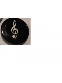 Hűtőmágnes fekete violinkulcs