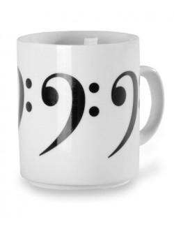 Teás/kávés bögre zenei kulcsokkal